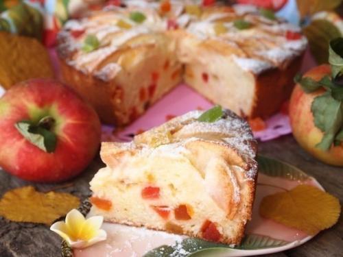 """Пирог Краски осени с домашним творогом. Творожно - яблочный пирог """"Краски Осени""""."""
