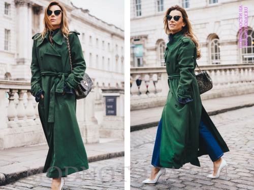 С чем носить длинное пальто женское. С чем носить длинное пальто в 2020 году?