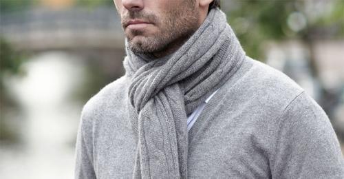 Шарф, как завязать мужской. Способы завязывания мужских шарфов