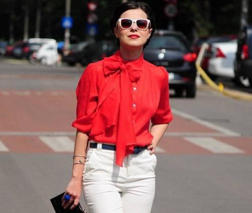 С чем носить красную кофту. С чем носить красную блузу — учимся комбинировать