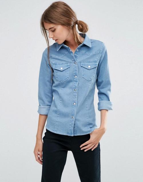 С чем носить джинсовую рубашку - идеи на заметку