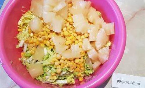 Пп салат с курицей и ананасом. ПП салат с курицей и ананасом