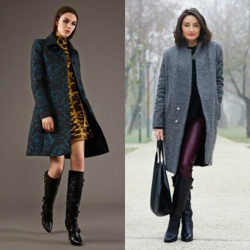 Какую обувь можно носить с пальто. Пальто до колена, выше колена и ниже колена – подбираем обувь для каждого случая