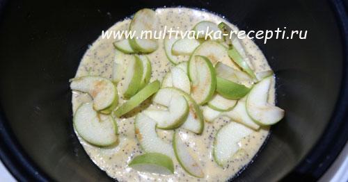 Творожно-яблочный пирог с маком в мультиварке