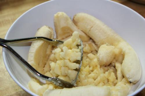 Сладкое печенье с банановой начинкой