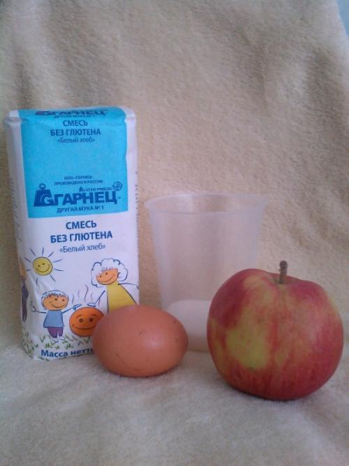 Яблочные оладьи. Без глютена. Для детей
