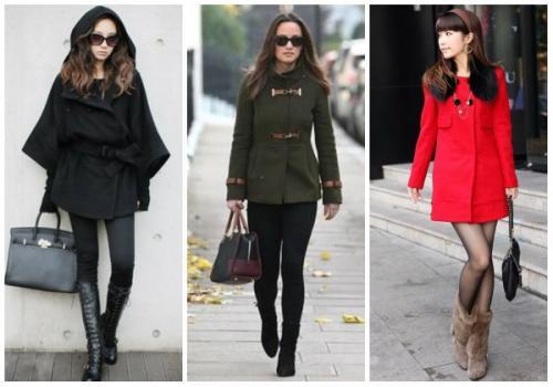 Как сочетать пальто и сапоги. С какой обувью носить женское пальто до колена?