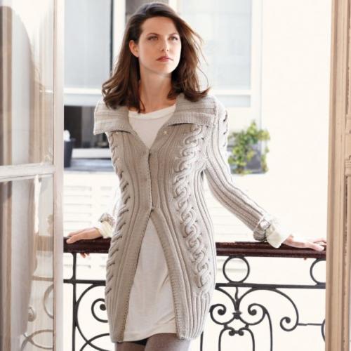 Модное вязаное платье 2019.