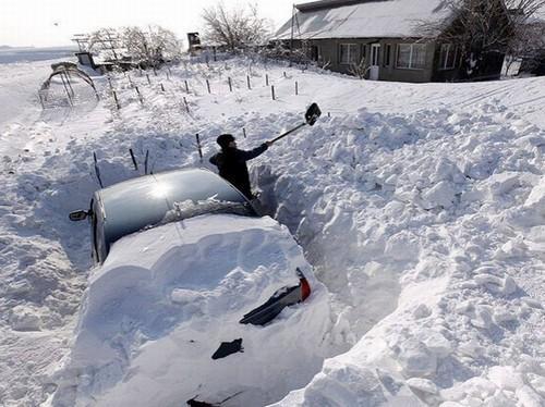 Похудеть в деревне зимой