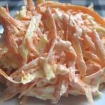 Морковный салат с сыром и чесноком!