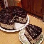 Шоколадный торт африканская ромашка.