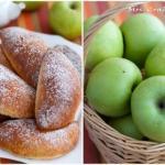 Яблочные пирожки.   Время приготовления: 50 минут.