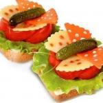 Подборка бутербродов для праздничного стола.