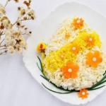 """Салат """"Пасхальное Яйцо"""" с цветами?"""