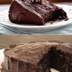 Супервлажный шоколадный пирог без яиц.