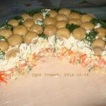 """Салат """"Грибная Поляна"""" (закусочный торт."""