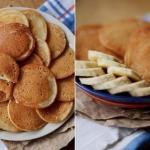 Тонкие банановые панкейки без масла.