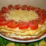 """Закусочный """"Торт"""" из кабачков?"""
