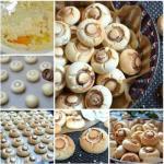"""Печенье """"Грибочки"""". Оригинальный рецепт приготовления ароматного печенья с добавлением крахмала."""