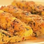 Кабачки в сырной панировке на 100 г - 74 ккал.
