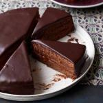 """Шоколадный торт """"Захер"""" от юлии Высоцкой."""