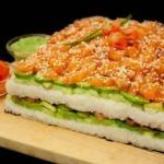 Суши - торт: это так просто.