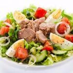 Салат с тунцом - идеальный вариант ПП- ужина.