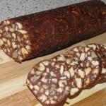 """Шоколадная колбаска. Это самая - самая вкусная """"Колбаса"""" из детства."""