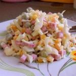 Лёгкий салатик.  Ингредиенты: