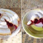 Пирог улитка с вишней.