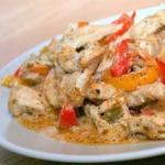 Быстрый ПП- ужин: тушеная курица с овощами.