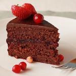 Шоколадно - клюквенный торт.